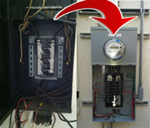 electrical panel installation in los angeles panel upgrade rh ocaelectrical com Wiring- Diagram Receptacle Wiring