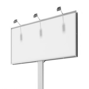 white billboard screen
